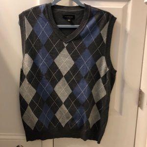Club Room argyle sweater vest size L